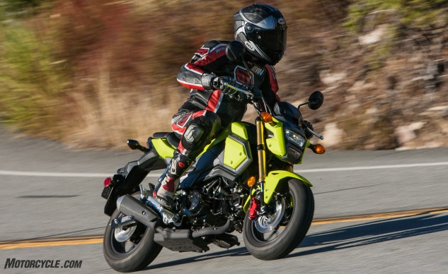 "The Grom's new redesign is capped off by its headlight. What does Kevin think of it? ""It looks a little like Iron Man's helmet,"" he noted."
