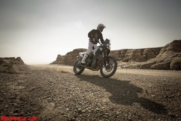 In the quest to build the next generation of adventure bikes, Yamaha's T7 looks to the past, and the Tuning Fork's Dakar winners.