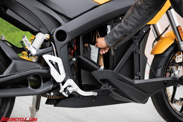 Stick your tablet, or maybe your lunch, in the storage compartment of the Zero S ZF6.5.