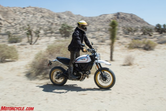 The Desert Sled is at home when the pavement runs out and only dirt lies ahead.