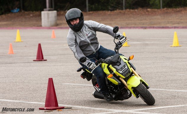 All our guest testers quickly adapted to the Grom. Arkady Trimolov especially preferred it during the gymkhana portion of our day.