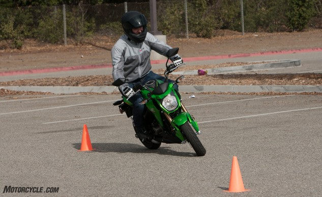 Agility is the Kawasaki Z125 Pro's biggest asset. If sportbikes are in your future, consider learning the ropes on the Green Machine.