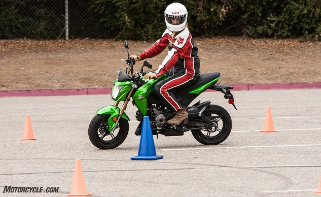 Snatchy on/off power delivery is one of the Z's weaknesses, which wasn't appreciated by our newer riders.