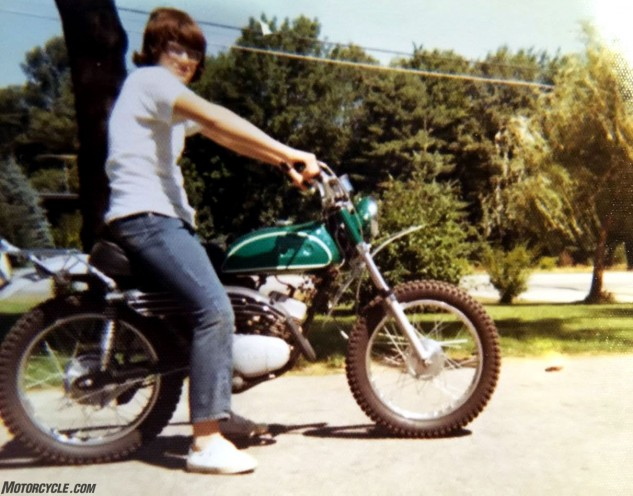 Bob Starr astride the only Yamaha he owned for several decades. This 1970 CT-1 was bought as a basket case when Starr was 14 years old from money he earned working on a chicken farm. His parents, who expressed concerns about Bob's safety on bikes, hoped he might never get it running. Instead, the CT was fully operational in two weeks, and his parents conceded motorcycles were going to play a big part of their son's life.