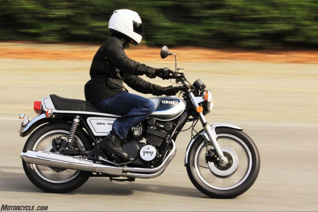 """""""There's something special about riding the 750. You can hear the engine more, and you can feel it working more than a current bike. It's very mechanical and very simplistic at the same time – I enjoy that; I grew up with that. This bike takes me back to the time when I first fell in love with motorcycles."""""""