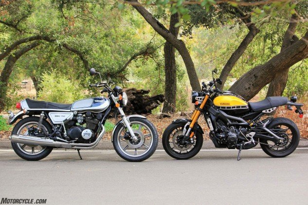 """""""I love going to work at Yamaha every morning,"""" Starr relates, """"and the XS750 connects the dots. It's cool that our company is kind of seeing that with the whole sport-heritage initiative. People can see what the heritage means when you can look at it. You can hear it in its roots – it's there."""""""