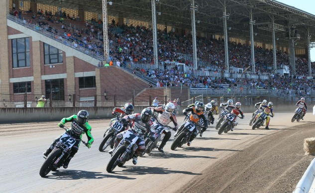 Flat track racing is a uniquely American form of motorsport.