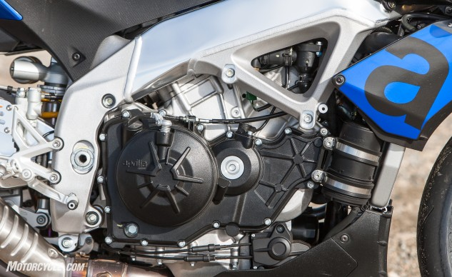 You haven't lived until you've twisted the throttle of this engine in anger. The Aprilia tied the EBR in Pounds per HP, and was only 0.1 Pound per Lb.-Ft. shy of the EBR, but only because the EBR enjoys a 20-pound weight advantage.