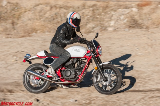 Cafe racers don't normally play in the dirt, but the Buccaneer Cafe comes equipped with knobby-ish rubber. So play we did!