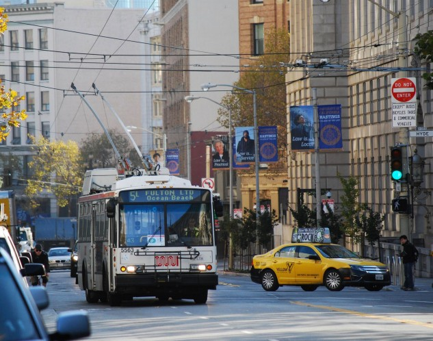 The 5 Fulton, which is better than risking paralysis and smells like damp homeless people in the winter months. Photo: SFMTA.