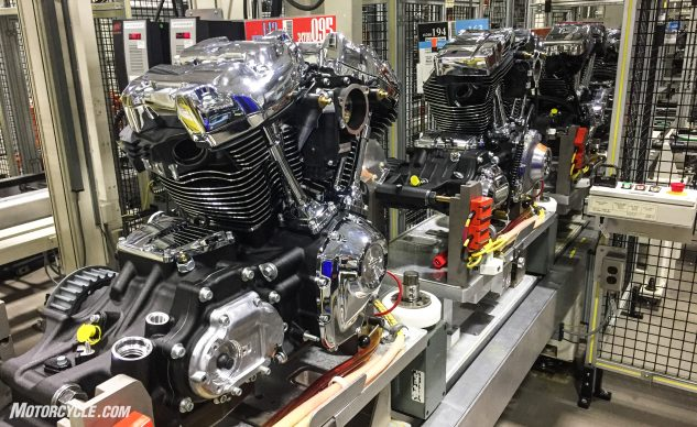A Milwaukee-Eight, a Twin-Cam, and a Sportster walked into an assembly line…