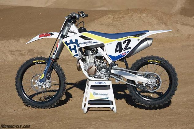 husqvarna's fc 450 may share a lot in common with its ktm sister, but the