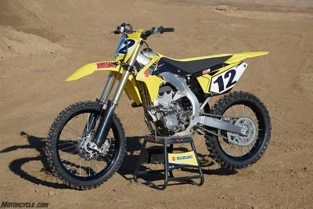Basically a four-year-old design, the Suzuki RM-Z450 is still a popular machine in the 450cc ranks.