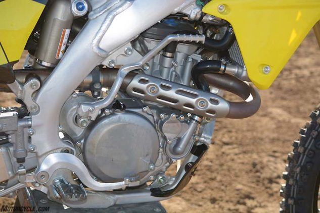 the suzuki's dohc engine may be the elder statesmen of the group, but it's  no