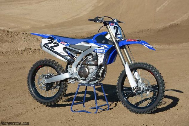 Yamaha still has the only reverse-incline (rearward facing cylinder head) engine in the 450cc class. The YZ450F last underwent a major redesign in 2014.