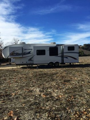 A buddy in Solvang who was looking for new digs sent me this Craigslist: $1450 / 2br - 400ft2 - 5th Wheel on 15 acres (Full Hook-ups) (Solvang)