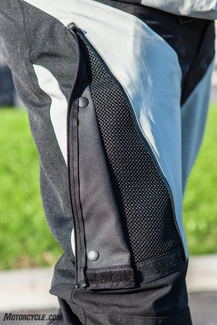 Venting is overlooked in pants, but the vents on the rider's thighs make a noticeable difference in comfort in warm weather.