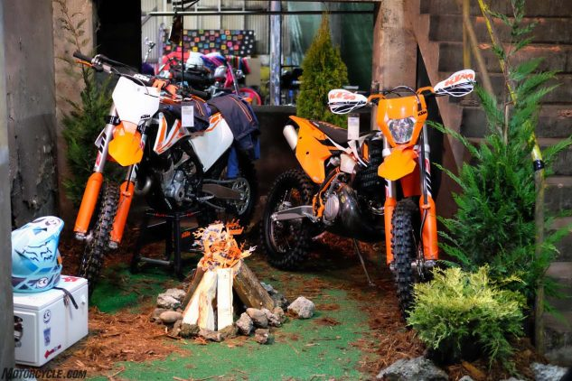 See See Motorcycles and KTM made a lil' Portlandy camp scene to promote their new See See x KTM shop.