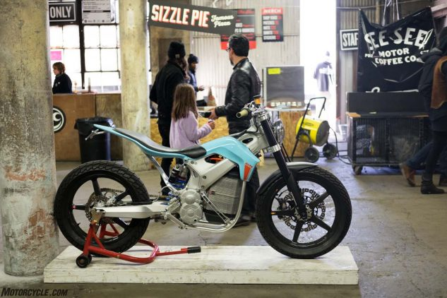 Here's the electric-powered Redshift ST street tracker concept from Alta Motors.