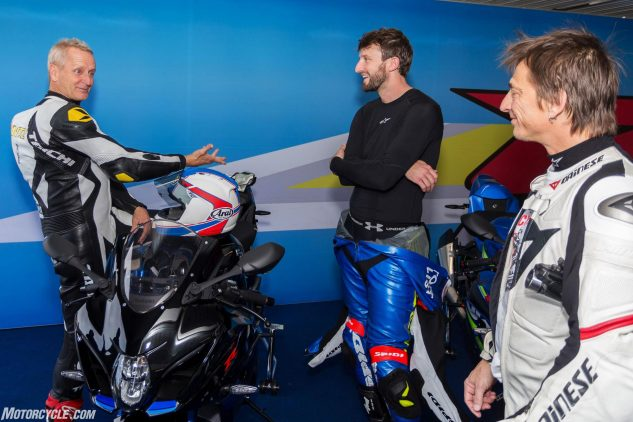 Adding to the monumental nature of my trip to Phillip Island was the chance to bench race and get riding tips from legendary racer Kevin Schwantz, the 1993 500cc World Grand Prix champ. Here, after seeing me ride on track, Schwantz suggests I might be better suited to the back seat...