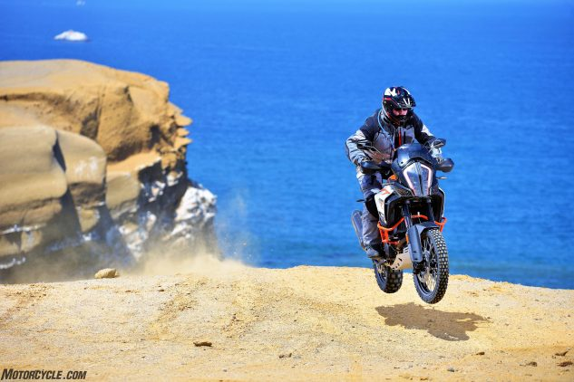 2017 KTM 1290 Super Adventure R jumping