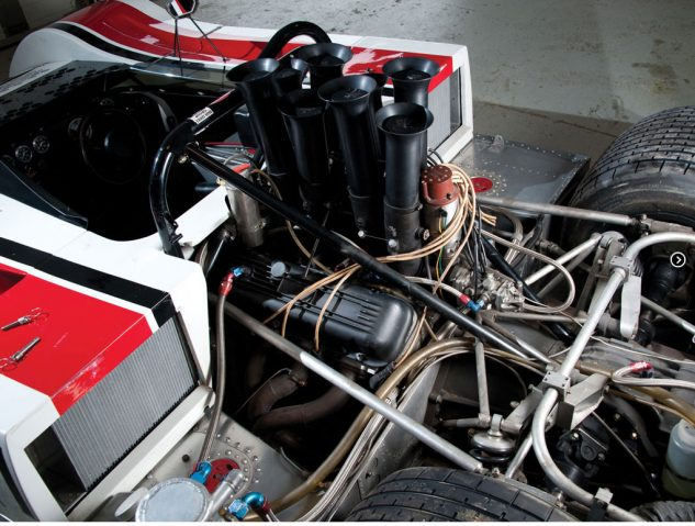 Now we're talking torquey: Can-Am cars in the '70s used big-block V-8s tuned for torque in part by using long intake runners.