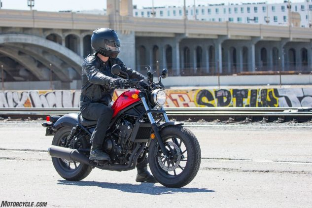 2017 Honda Rebel 500 ergonomics
