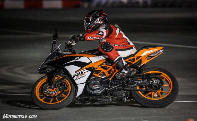 KTM RC390 with Michelin Power RS tires