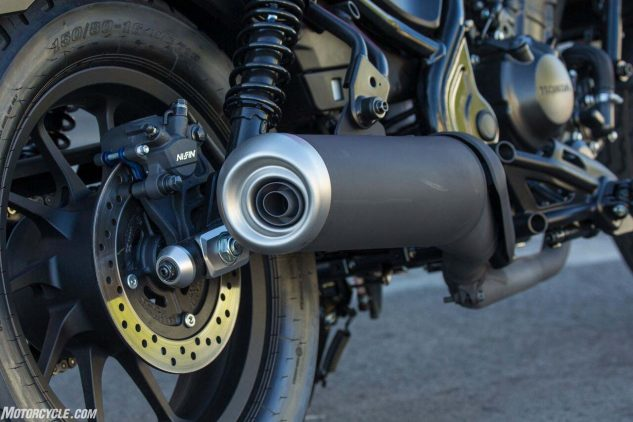 2017 Honda Rebel 300 rear brake, exhaust