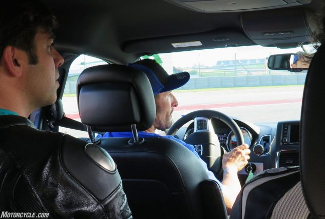 It really was the last straw when Josh Hayes passed me in a Grand Caravan. After that I threw in the towel. Actually COTA does have four corners so tight you really could go around them quicker in a minivan.