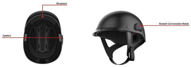 Affixed to the helmet's outer left side is Sena's 10R communication module. All wiring is internal. The built-in, brow-mounted microphone features Sena's Advanced Noise Control technology for reducing wind noise, while Sena claims the integrated speakers above the ears are of HD quality.
