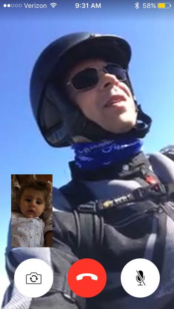 I FaceTimed my daughter so she could see daddy working. Surprisingly, she sounded just like my wife. Even more surprising was the clarity with which she heard me. Up to 55 mph with a shorty windscreen and minimal crosswinds, a conversation-level voice is all it takes.