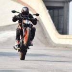 2017 KTM 390 Duke wheelie