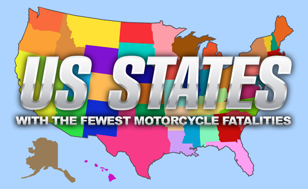 States With The Fewest Motorcycle Fatalities in 2015