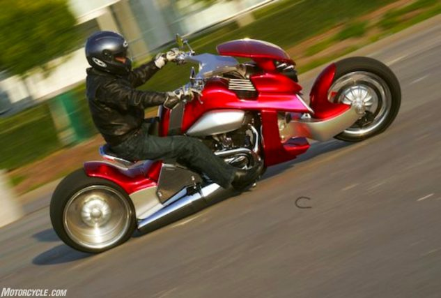 Ah, the Travertson V-REX, the most outlandish motorcycle I've ever ridden, reviewed almost a decade ago.
