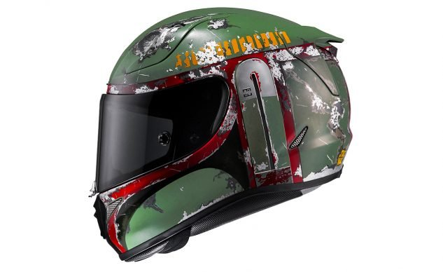 Easier maybe to go with one of the other RPHA 11 Pro graphics packages, of which there are a slew, including this Boba Fett that Toni Elias is wearing in MotoAmerica Superbike this year.