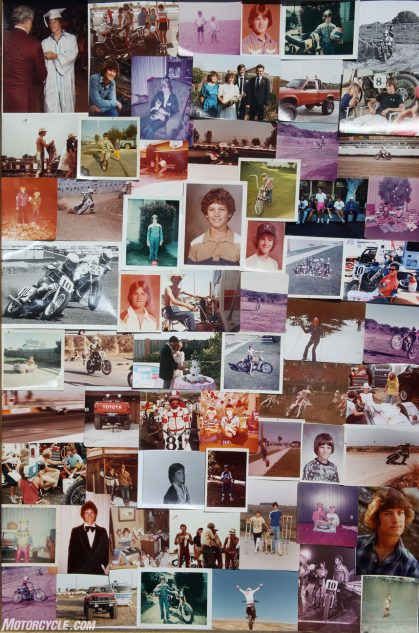 You have to search hard to find evidence of Chandler's career on his old bulletin board, and he'd just as soon keep it that way. Just inside the front door is this collage of yellowing photos: there's Doug on a minibike, Doug as a teenager sliding around a dirt track at improbable speeds, Doug graduating from high school.