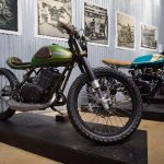 Handbuilt Motorcycle Show Krossover Customs RD350 dual-sport cafe-racer mash-up