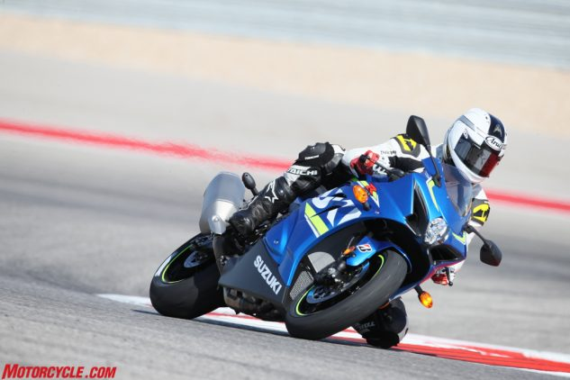 You may not know the name Shinichi Sahara, but you should. He's the project leader for the GSX-R1000, and his roots at Suzuki go back a long way. His resume of bikes he's helped developed include the TL1000S on the street side, as well as Suzuki's original MotoGP effort. But as you can see here, he's not just a desk jockey with a calculator and a protractor – Sahara-san is a rider through and through!