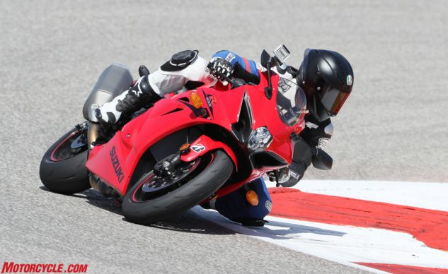 One of the high points about the new GSX-R is its agility while on the brakes.