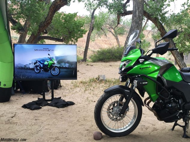 Roughing it is better with big-screen TVs.