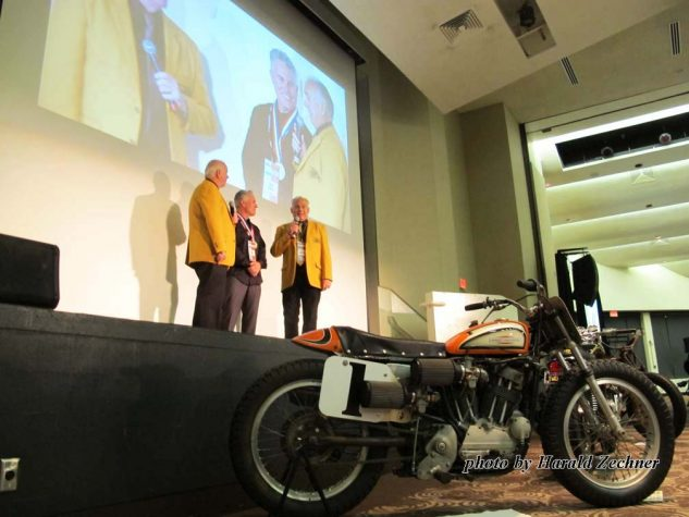 Don Emde and Keith Mashburn with Speedway World Champion Billy Hamill.