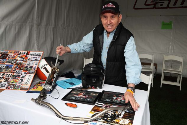 """Mert Lawwill, Grand National Champion and star of the film, """"On Any Sunday,"""" builds prosthetic limbs designed for motorcycling."""