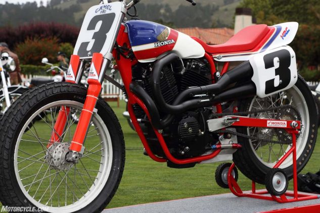 Replica of multi-time Grand National Champion Ricky Graham's Honda RS750.
