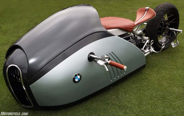 Innovation Award winner: somewhere in this exotic machine is a BMW K75 powertrain.