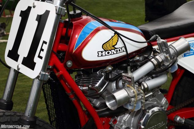 Honda CX500-based flat tracker: This engine always offered intake routing challenges. Here's a somewhat bizarre solution.