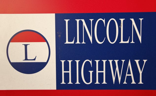 Lincoln Highway road sign