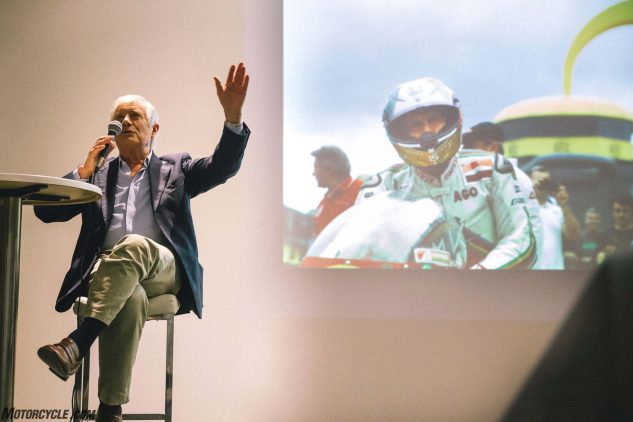 """Agostini had us all laughing when asked about his great rival, Mike 'The Bike' Hailwood. """"Mike beat me sometimes, he was so fast, so he would get the trophy. But I always got the women. And, sometimes if I was feeling generous, I would share them with Mike!"""""""
