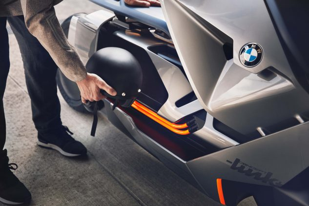 BMW Motorrad Concept Link Electric Scooter underseat storage