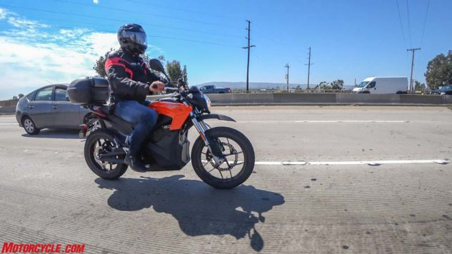 Freeway riding is the enemy of range, as the constant call for electricity quickly drains batteries. But hopping on the freeway is simply a way of life for Los Angeles-area couriers.